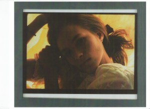 Artifact image one, from performance: age 23. Photographed by F. Spendlove; 1989; framed machine print