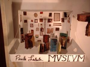Paula Lalala MVSEVM Diorama. 2000; cardboard, wax pigment, foamcore board, polaroids