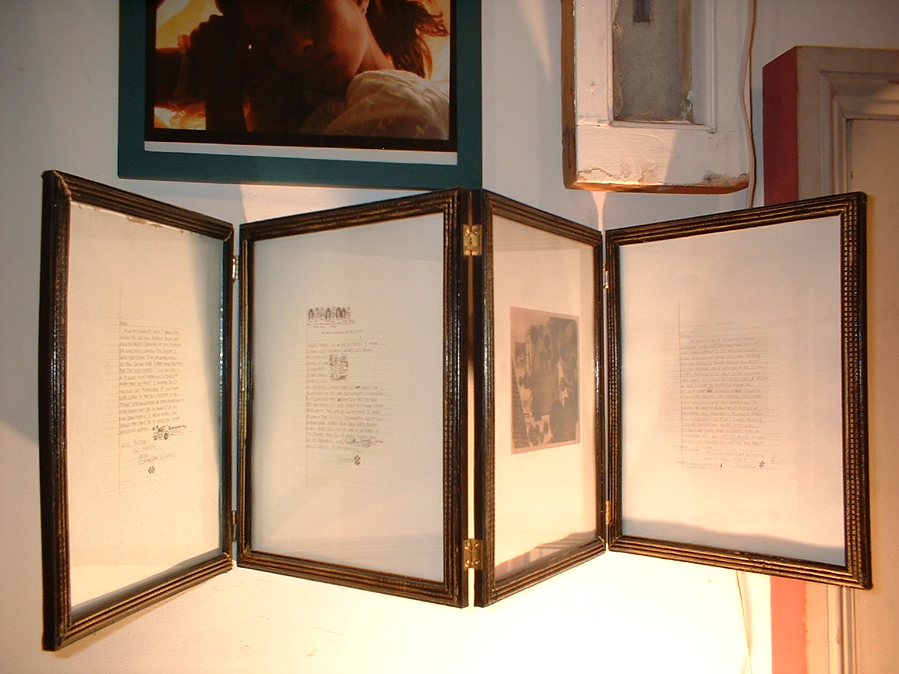 Documents/Eternal Youth/ Momento Mori. 1983, 1999, 2001. Letters from B.C. (now deceased) photo collage by W. L. (now deceased), artifact from performance
