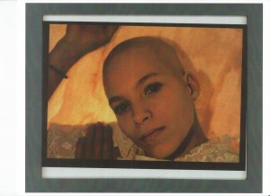 Artifact image two, from performance: age 23. 1989; Photographed by F. Spendlove; framed machine print
