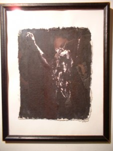 Cling to life. 2000; ink on rag paper, frame w/ glass
