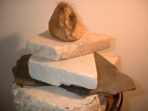Pussy on pedestal, the goddess of love. 2001; plaster, paint, stone, metal